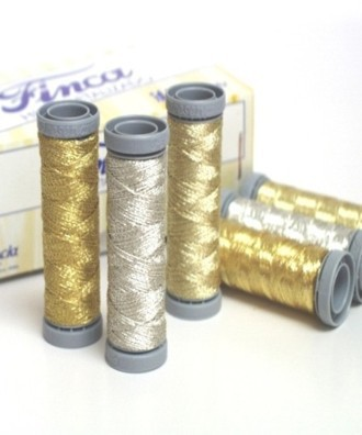 50 metres Spool Metallic Thread 'FINCA' 2 ply