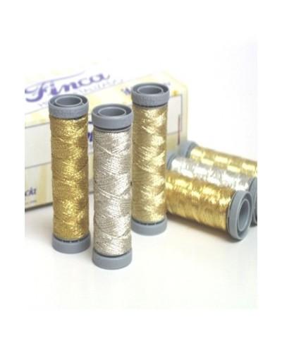 50 metres Spool Metallic Thread 'FINCA' 2 ply
