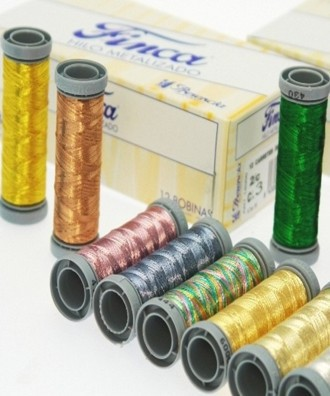 100 metres Spool Metallic Thread 'FINCA' 1 ply