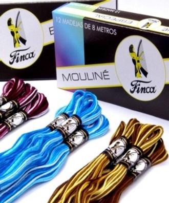 Mouline 8 metres Hanks variegated color