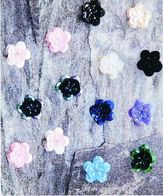Flores de lentejuelas