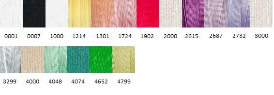 Referencias Colores Hilos para Bolillos