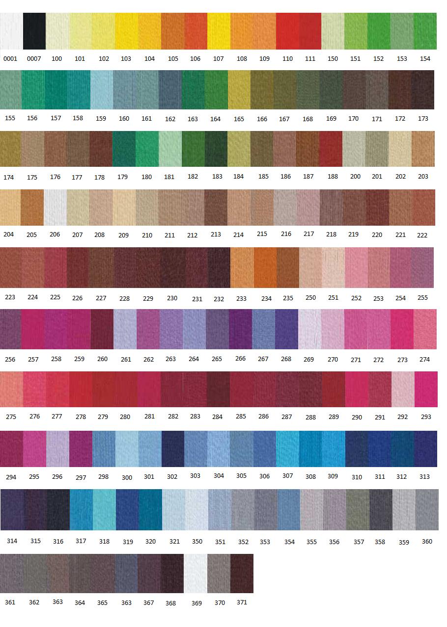 Referencias Colores Hilo de Coser