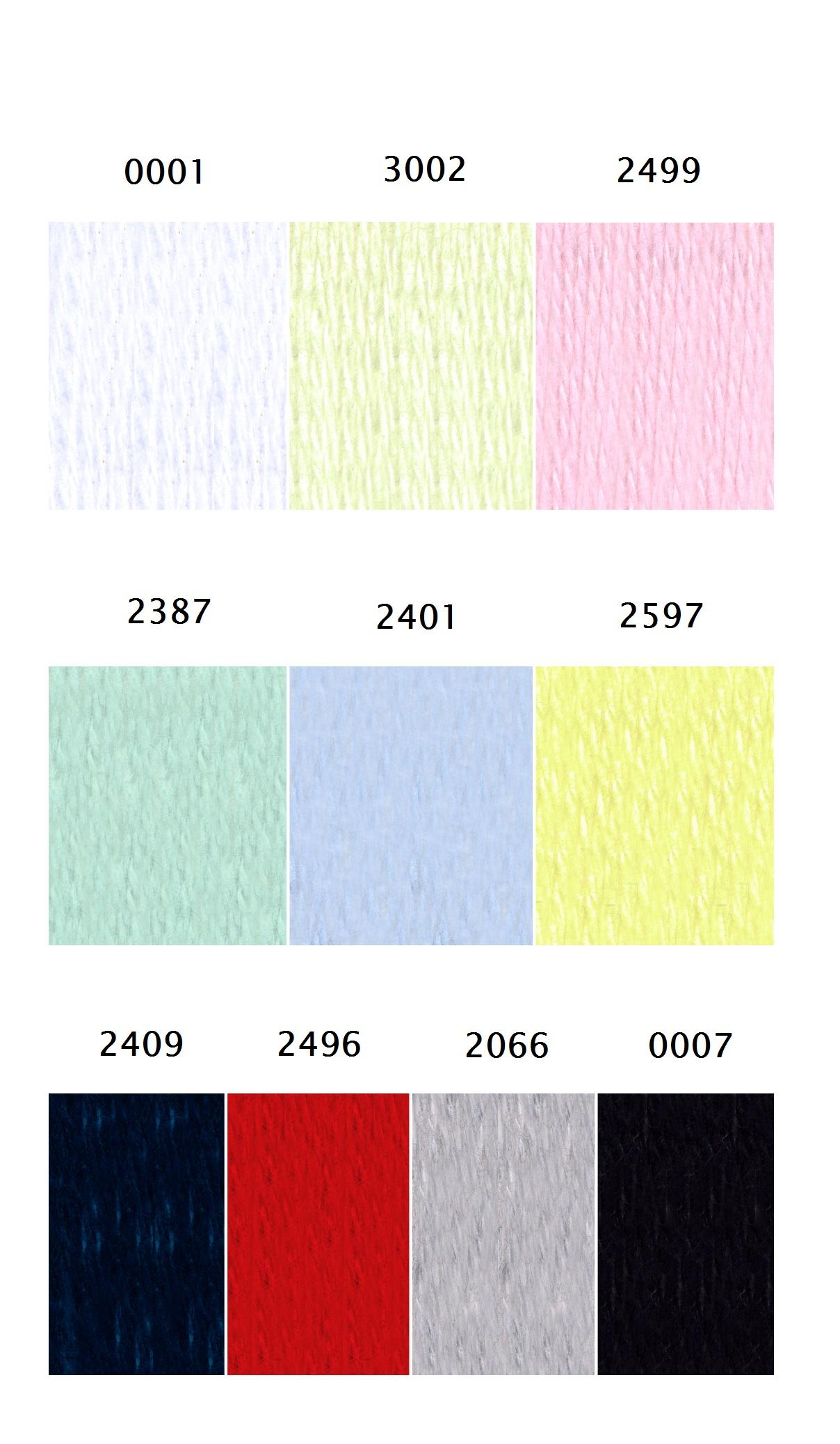 Paleta colores Chisel Angora