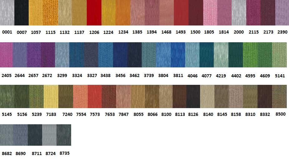Referencias Colores Rayón Labores