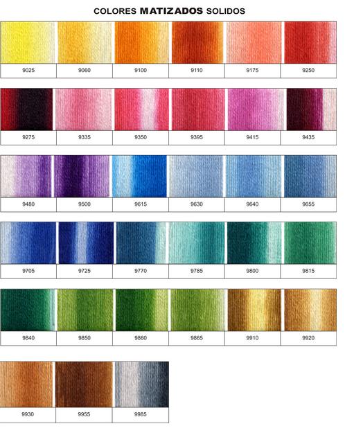 Referencias Colores Matizados